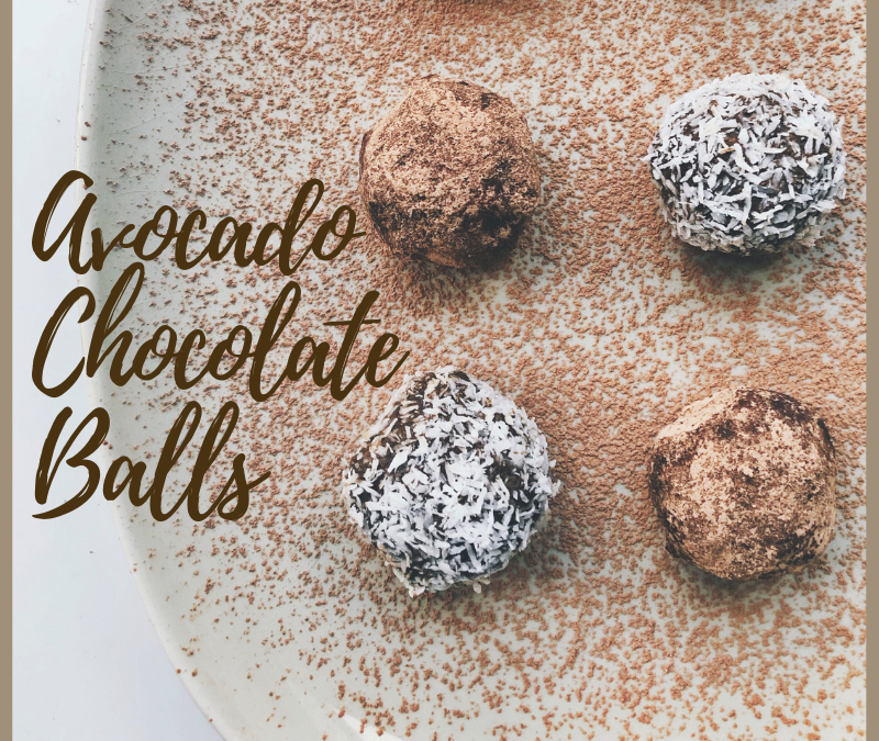 AVOCADO CHOCOLATE BALLS RECIPE
